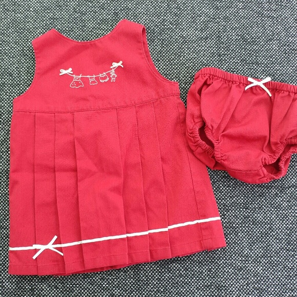 Gymboree Other - Gymboree JARDIN FRANCAISE Embroidered Red Dress